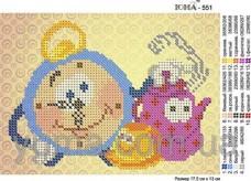 Схема вышивки бисером на атласе Детская Юма ЮМА-551