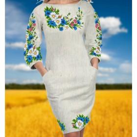 Заготовка женского платья для вышивки бисером  Biser-Art Сукня 6033 (невибеліний льон) - 504.00грн.