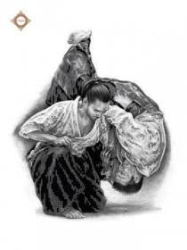 Схема вышивки бисером на атласе Айкидо