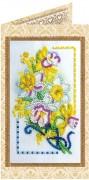 Набор - открытка для вышивки бисером Подарок весны