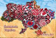 Набор для вышивки бисером на холсте Вишивана Україна