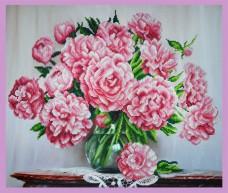 Набор для вышивки бисером Букет розовых пионов Картины бисером Р-290