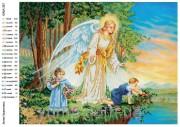 Схема вышивки бисером на атласе Ангел хранитель