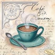 Схема вышивки бисером на атласе Кофе в Париже 4