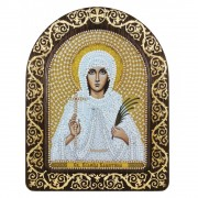 Набор для вышивки иконы в рамке-киоте Св. Мц. Валентина Кесарийская