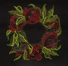 Набор для вышивки крестом Гранаты Абрис Арт АН-120