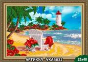 Рисунок на ткани для вышивки бисером Райский уголок
