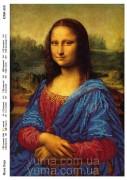 Схема вышивки бисером на атласе Мона Лиза