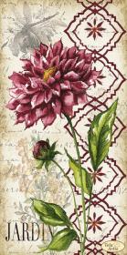 Схема для вышивки бисером на атласе Винтаж. Георгина, , 95.00грн., ТА-395, Tela Artis (Тэла Артис), Цветы