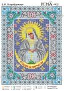 Схема вышивки бисером на атласе Б М Остробрамская