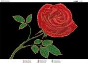 Схема вышивки бисером на атласе Золотая роза