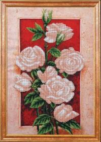 Набор для вышивки бисером Пробуждение Розы, , 431.00грн., Б-371 МК, Магия канвы, Цветы