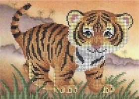 Схема для вышивки бисером на габардине Тигрёнок Акорнс А5-Д-273 - 30.00грн.
