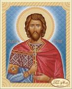 Рисунок на ткани для вышивки бисером Святой Мученик Евгений