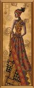 Набор для вышивки бисером Загадочная африканка