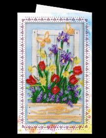 Набор для вышивки бисером Открытка-конверт Ранняя весна