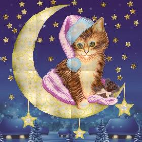 Схема вышивки бисером на холсте Лунный вечер