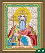 Рисунок на ткани для вышивки бисером Владимир Великий