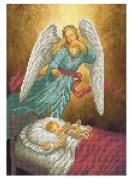 Схема для вышивки бисером на габардине Ангел-Хранитель