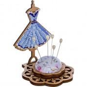 Игольница набор для вышивки бисером Платьице