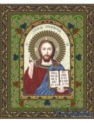 Схема для вышивки бисером на атласе Икона Господь Вседержитель