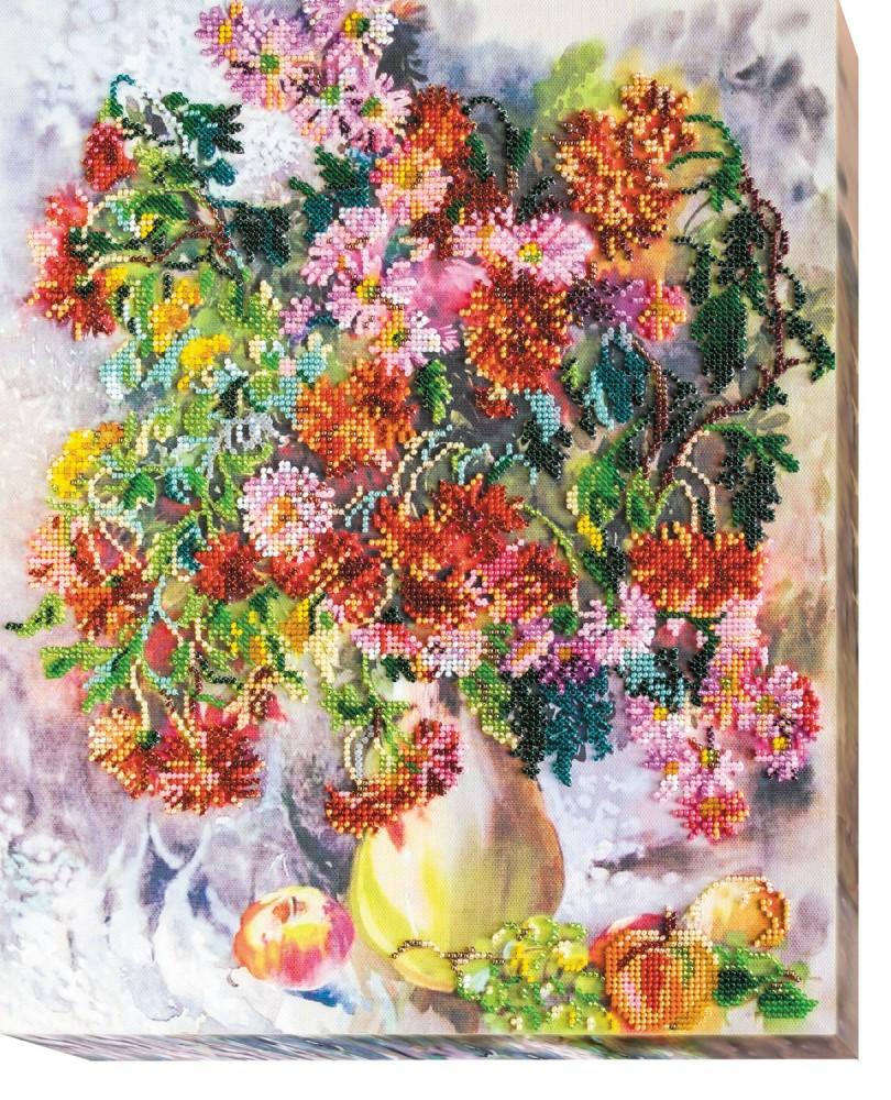 Схемы вышивки бисером хризантема