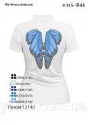 Женская футболка для вышивки бисером Крылья