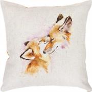 Набор подушки для вышивки крестом Лисицы
