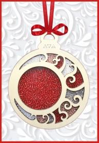 Набор новогоднее украшение из фанеры Новогодняя игрушка Шар