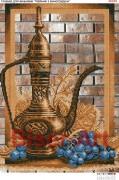 Схема вышивки бисером на габардине Натюрморт