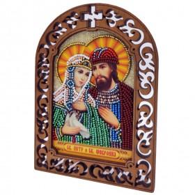 Набор для вышивки бисером на деревяной основе Петр и Февронья Вдохновение IKF05 - 175.00грн.