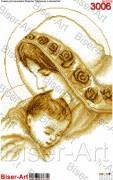 Схема вышивки бисером на габардине Мадонна з немовлям