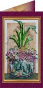 Набор - открытка Цветы в подарок 2