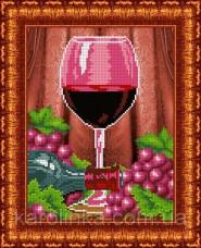 Набор для вышивки бисером Бокал вина Каролинка КБЛН-4021