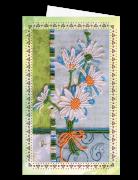 Набор для вышивки бисером Открытка-конверт Ромашки