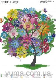 Схема вышивки бисером на атласе Дерево счастья Юма ЮМА-3191 - 62.00грн.