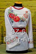 Заготовка для вышивки бисером Сорочка женская Biser-Art Сорочка жіноча SZ-6 (габардин)