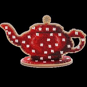 Набор для вышивания бисером по дереву Чайник