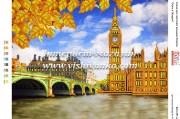 Схема для вышивки бисером на атласе Осень в Лондоне