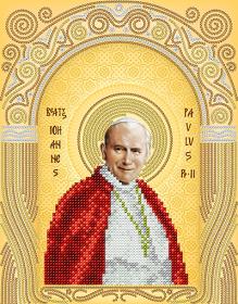 Схема для вышивки бисером на атласе  Святой Иоанн Павел ll . Папа Римский