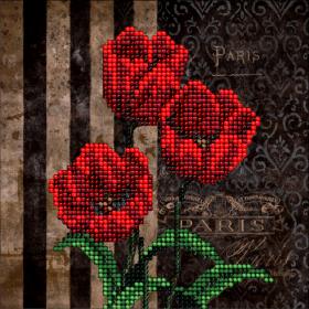 Набор для вышивки ювелирным бисером Цветы 5