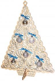 Набор новогоднее украшение из фанеры Нарядная ёлочка, , 240.00грн., F-092, Чарiвна мить (Чаривна мить), Новый год