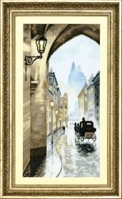 Набор для вышивания крестом Crystal Art Старый город, умытый дождем
