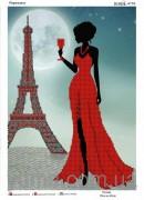 Схема вышивки бисером на атласе Парижанка