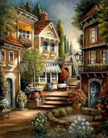 Набор для выкладки алмазной мозаикой Цветущий дворик Алмазная мозаика DM-070 - 640.00грн.