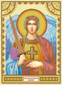 Схема для вышивки бисером на холсте Святой Михаил