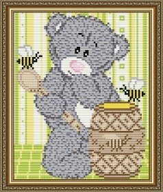 Набор для выкладки алмазной мозаикой Мишка с медом Art Solo АТ5529 - 248.00грн.