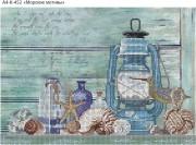 Схема для вышивки бисером на габардине Морские мотивы
