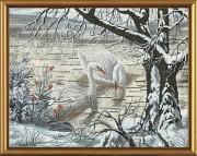 Набор для вышивки крестом Лебеди