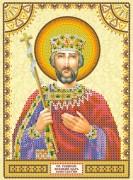 Схема для вышивки бисером на холсте Святой Константин
